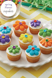 These Spring Cupcakes Are Perfect For Birthday Parties And Other Celebrations Mix Match Colors To Your Liking Create Treats That