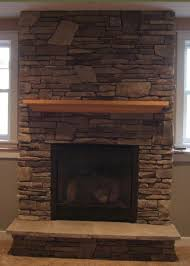 Gas Fireplace With Cultured Stonestone Id Like A Darker Longer Mantle