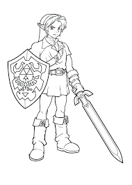 Full Image For Destiny Video Game Coloring Pages Free Sheets Zelda