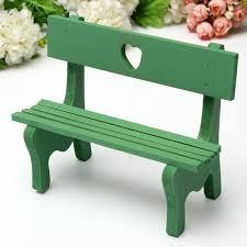 Miniature Landscape Plant DIY Craft Garden Decor Green Chair Bench ED