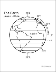 Clip Art Earth Lines Of Latitude Coloring Page I Abcteach