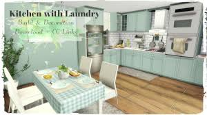 Kitchen With Laundry By Dinha Gamer For The Sims 4