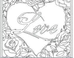 Vibrant Idea Love Coloring Pages For Adults Printable Rose Page PDF JPG Instant By