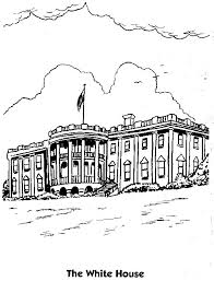 White House Coloring Page Printable