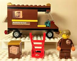 Amazon.com: Sb Food Ny Inc. Lego UPS Truck Great Vehicles & UPS Box ...