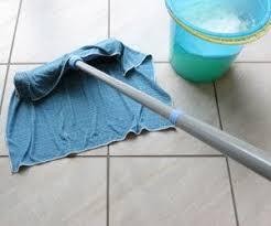how to clean non slip tile flooring