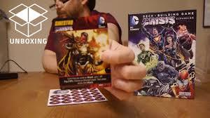 unboxing dc comics deck building game crisis expansion pack 3