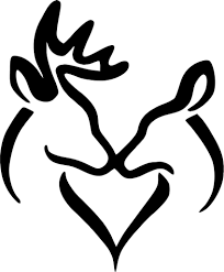 Deer And Doe In Love Kissing Vinyl Car Window Laptop Decal Sticker ... Kc Vinyl Decals Graphics Signs Banners Custom Nice Buck Browning Deer Hunting Decal Hunter Head With Name Car Commander Sticker Truck Laptop Kayak Etc Family Vinyl Sticker Decal Car Window Decalkits Oh Mrigin Waterfowl For Trucksfunny Trucks For Bigbucklife At Superb We Specialize In Decalsgraphics And Whitetail Buck Hunting Truck Graphic