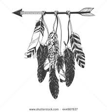 Dreamcatcher With Arrow And Feathers Native American Indian Talisman Vector Hand Drawn Hipster Illustration