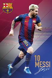 barcelona messi 16 17 poster plakat 3 1 gratis bei europosters