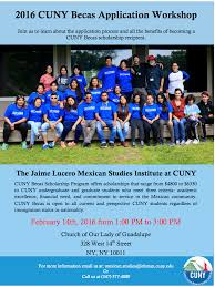 Cunyfirst Help Desk Bmcc by Cuny Mexican Studies Institute Lehman College