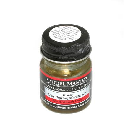 Model Master Brass No Buff Metallic Lacquer