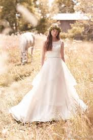 mikaella modest bohemian country wedding dresses a line vintage