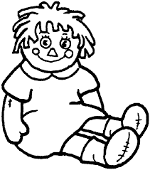 Doll Coloring Page For Kids