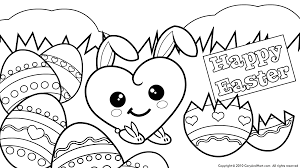 Bunny Cute Love Is All Around Happy Easter Coloring Pages Kids