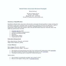 Retail Experience Resume Sample Sales Associate Beautiful Template Samples Career Center No