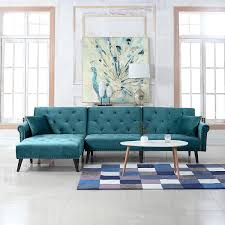 100 Modern Sofa For Living Room Details About Mid Century Style Velvet Sleeper Futon Couch L Shape Teal