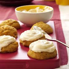 Libbys Soft Pumpkin Cookie Recipe by Pumpkin Cookies With Cream Cheese Frosting Recipe Taste Of Home