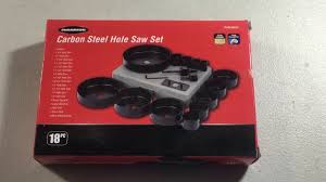 Tile Hole Saw Kit by Harbor Freight Tools 3 4 5 Inch 18 Piece Hole Saw Kit Product