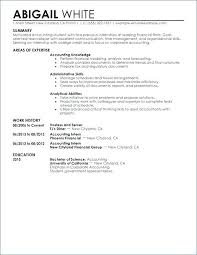 Education Resumes Examples Accounting Intern Resume Awesome College Good Example Of