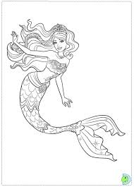 Perfect Mermaid Barbie Coloring Pages 98 About Remodel Free Book With