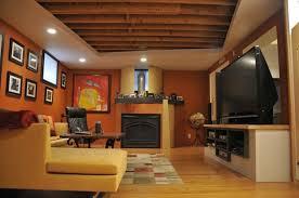 Rustic Unfinished Basement Ceiling Ideas