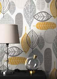 newroom papiertapete blumentapete grau orange palmen wallpaper floral blumen tapete retro pflanzen wohnzimmer schlafzimmer büro flur kaufen