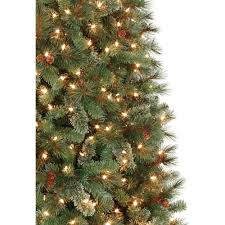 7ft Christmas Tree With Lights by Holiday Time Pre Lit 7 U0027 Brookfield Fir Artificial Christmas Tree