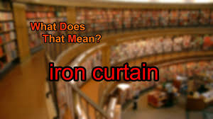 Iron Curtain Speech 1946 Definition what does iron curtain mean youtube