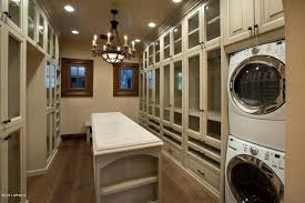 Laundry Room Sink With Built In Washboard by Built In Laundry Room Ideas A Washer And Dryer Are Hidden Within