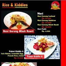Menu Rice And Kiddies