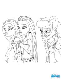 MONSTER HIGH DOLLS For Girls Coloring Page