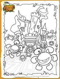 Animal Jam Phantom Fortress Coloring Page