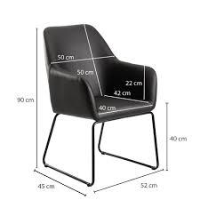 wohnling esszimmerstuhl schwarz kunstleder metall küchenstuhl mit schwarzen beinen design schalenstuhl polsterstuhl esszimmer stuhl gepolstert