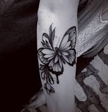 This Awesome Blackwork Butterfly Tattoo