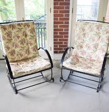 Two Vintage Black Metal Mesh Patio Rocking Chairs With Old ... Better Homes Gardens Bay Ridge Rocking Chair With Gray Cushions Walmartcom Details About Rare Swedish Vintage 1950s Plywood Baby Child Polywood Shr22bl Black Seashell 1960s In Red Plastic Strings On Metal Frame Mainstays Jefferson Outdoor Wrought Iron Porch Heritage Rocking Chair Bali Sling Alinum Outindoor Pair Of Bronze Swivel Rockers For Ding Balcony Or Deck Handmade Acapulco Papasan Royaltyfree Photo Selective Focus Otography Black Scrollwork Design Decorative Patio Garden Great Deal Fniture 304345 Muriel Wicker Cushion And White Outsunny Versatile Inoutdoor High Back Wooden