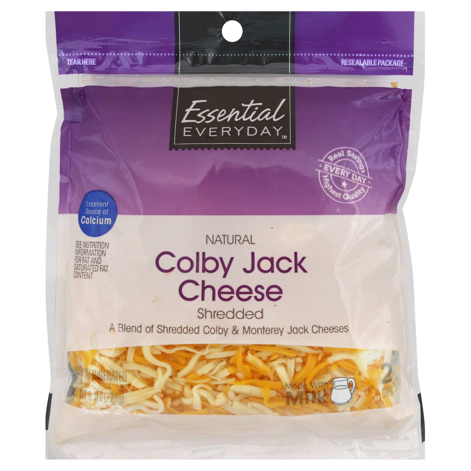 Essential Everyday Shredded Cheese, Colby Jack - 8 oz