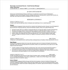 Small Business Owner Resume Sample For Buiness Owners Rh Gatasarada Org Retail