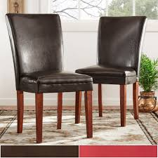 Parson Faux Leather Dining Chairs (Set Of 2) By INSPIRE Q Bold Western Accent Chair Fniture Southwestern Upholstered Ideas By Using Cowhide Bar Stools Dinettes Freds Co Leather Ding Chairs In Tuscan Teal Turquoise And Blue Vintage Antique Burl N C Six Mid Century Modern Wood 6 Villa Faux Set Of 2 York Tufted Chair Metal Frame Ding Chairs Yonbaco Arihome Loft Style 18 Rustic Gunmetal Southwest Wayfair The