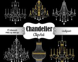Chandelier Clipart Rhinestone Clip Art Party Gold And Silver Glitter Instant