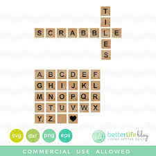 Free SVG File Scrabble Tiles A Group Board SVG Cut Files