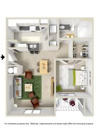 100 Small One Bedroom Apartments Large 1 Apartment Floor Plans A Large Number Of