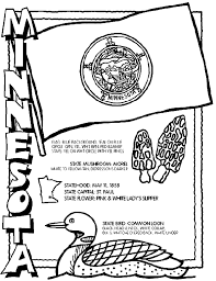 Minnesota Coloring Page But All 50 States Included