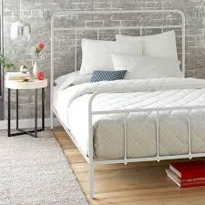 Lorraine White Metal Bed