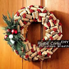 Rustic Cork Christmas Wreath Easy Cool Homemade Diy