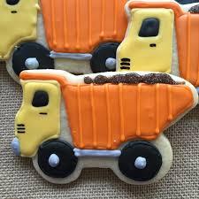 100 Dump Truck Cookies 1 Dozen Construction Cookies Etsy