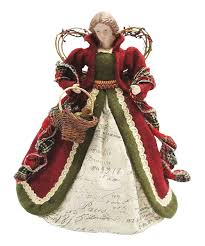 Ivory Red Country Angel Tree Topper