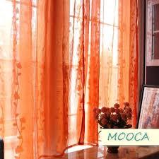 sheer orange curtains teawing co