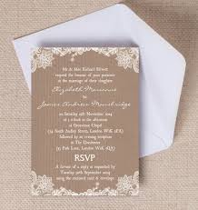 Rustic Vintage Lace Kraft Brown Paper Wedding Invitations Invites Printable Printed By Hip Hooray Stationery