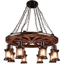 rustikale holz pendelleuchte vintage eiche hängeleuchte